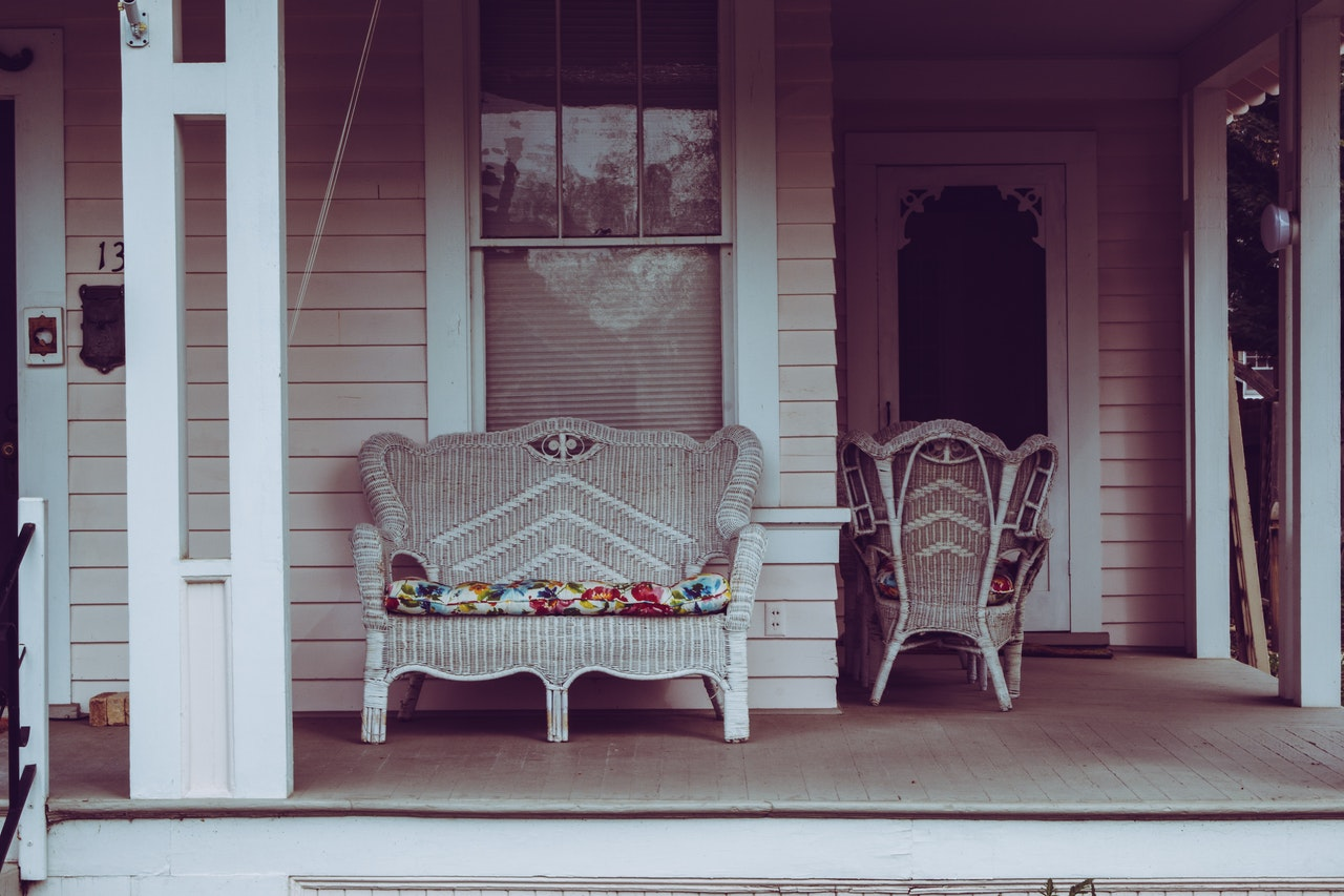front porch with furniture