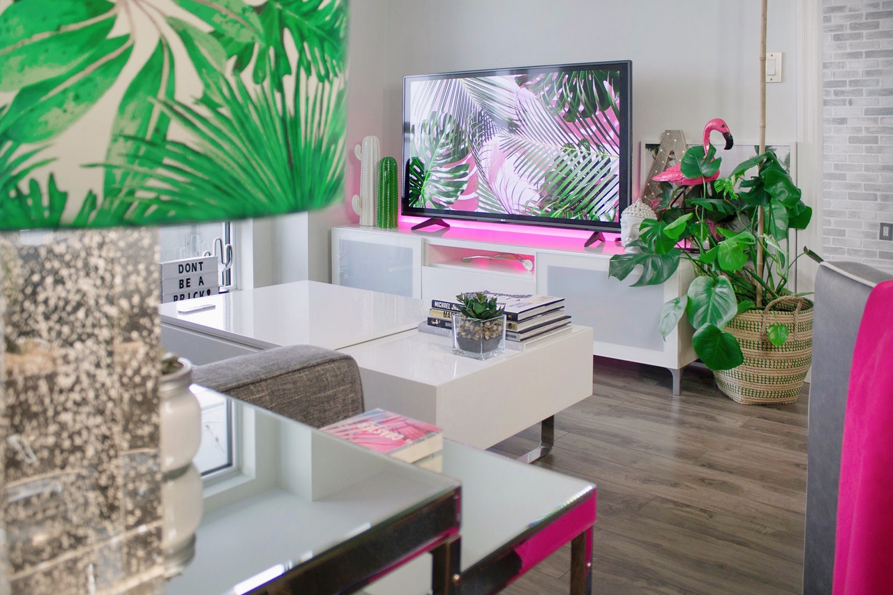 use of pink color in interior design